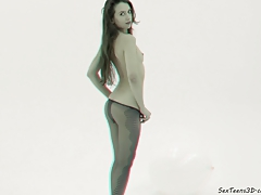 Teen girl posing in the studio -...