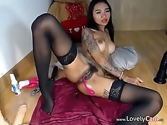 Cute girl doing some cam show -...