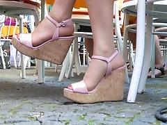 Asian Model Beauty In Wedge...