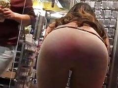 Brunette Chick & Itching Ass