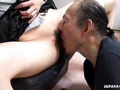 Old man is eating that wet hairy...