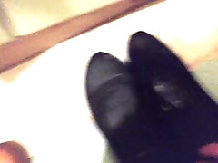 Flat Black Shoes Footjob...