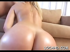 Sexy babe starts sweating from...