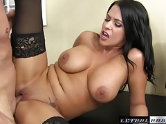 Young Lacie James seduces with...
