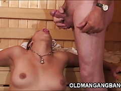 xhamster Hot Euro sauna gangbang