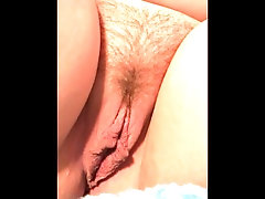 Stoner Girl with Shaved Pussy...