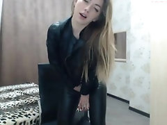 xhamster cute sexy Cam Girl in Leather...