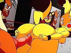 Pikachu backshot cumshot