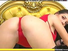 Nadia with red underwear in...