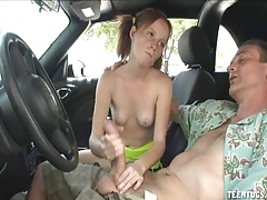 xhamster Horny Teen Babe Handjob In The Car