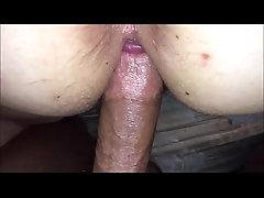 Closeup pussy fucked balls deep...
