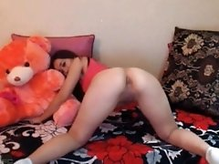 Horny Asian flashing pussy on Cam