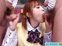 Nice double blowjob action