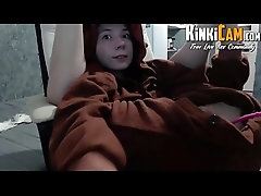 Hot Teen in Bear costume -...
