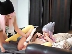 Two Lesbians Teen Girls Playing
