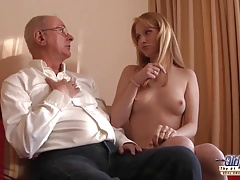 Old Young Porn Grandpa likes to...