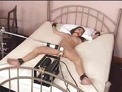 Tied slavegirl fucked by machine